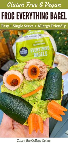 (AD) Need an easy #kidfriendly #glutenfree #breakfast or #healthy bagel ideas? Then you'll love this #vegan recipe for avocado everything bagels!