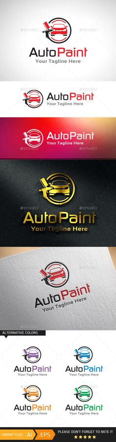 Car Paint Automotive Paint Logo Template — Vector EPS #coat #agent • Available here → https://graphicriver.net/item/car-paint-automotive-paint-logo-template/10943047?ref=pxcr