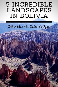 Coloured lakes, other-worldly rock formations and stark deserts. Bolivian landscapes are almost too surreal to be believed…. until you see them.