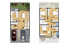 planos de casas de 90m2 de 2 pisos - Buscar con Google | a ...