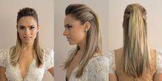 Penteado de festa meio preso para Patricia Bonaldi Hair by Didier Sé