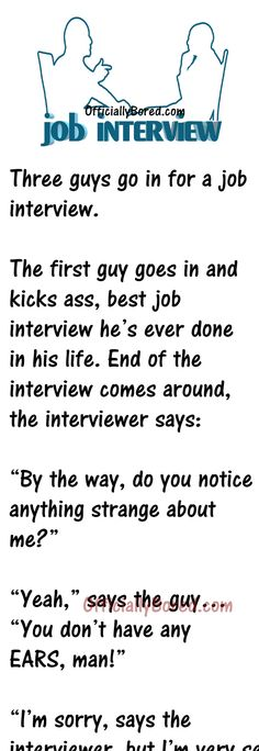 Long Funny Stories, Funny Long Jokes, Clean Funny Jokes, Stupid Funny Memes, Haha Funny, Hilarious, Job Interview Funny, Job Interview Quotes, Really Funny Joke