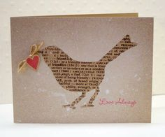 love always | Belle Papier {pretty paper} Another lovely hand made christmas card idea.