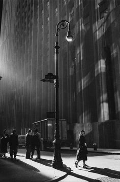 ☾ Midnight Dreams ☽ dreamy dramatic black and white photography - Neil Libbert | Wall Street New York, 1960