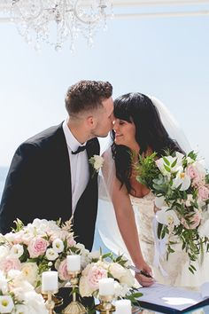 "A wonderful August wedding that took place in Santorini. ""Intermit, stunning and romantic"", like Kaylie, our bride said. And Kaylie and Brett were rig..."