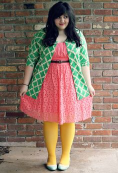 I love this whole outfit, the colors are like candy swirling together and this girl's blog is uber adorable, check it out--Miss Indie