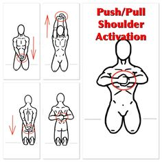 An Activation Exercise that will help mobilize and stabilize the shoulders.  Push/Pull- Grasp your hands together and practice pulling them apart for a few reps and then pushing them together for a few reps.  Next, Push and Pull the hands against one another as you lift and lower your arms in front and behind your body.  Practice a few reps frequently throughout the day and watch your shoulder mobility and stability improve!  Like PreHab Exercises on Facebook at…