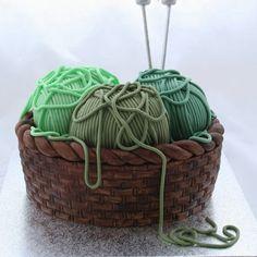 Cake Decorating - How to make a knitting basket cake
