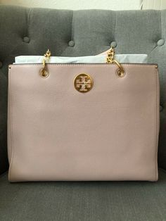 NWT TORY BURCH EVERLY Large TOTE in SHELL PINK $528 Brand New and Gorgeous! #Ad , #Advertisement, #EVERLY#Large#BURCH