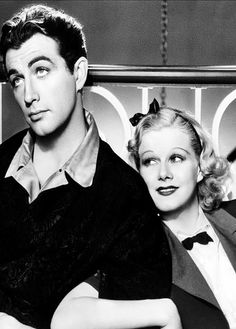 "Robert Taylor and Jean Harlow in ""Personal Property"" (1937). It was the last movie released with Harlow in it during her lifetime"