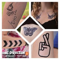 One Direction Inspired Temporary Tattoos by FangirlTattoos on Etsy, $12.95 #onedirection #onedirectiontattoos #temporarytattoos