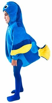 Toddler Blue Fish, Size Dory is a Pacific regal blue tang fish with a lousy memory. She's very good-natured, however, and goes to great lengths to help her friends. Unique Halloween Costumes, Holiday Costumes, Creative Costumes, Family Costumes, Diy Costumes, Halloween Kids, Costumes 2015, Costume Ideas, Fish Costume Kids