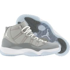 Air Jordan 11 XI Retro Cool Grey (medium grey white cool grey) Shoes ($85) ❤ liked on Polyvore featuring shoes, sneakers, jordans and footwear