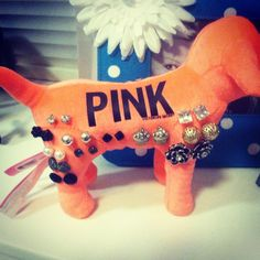 Use your PINK plush dogs as an earring holder. Cute & convenient!