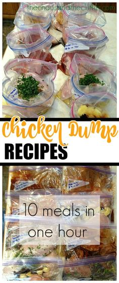 Hurry 5 Chicken Dump Recipes- made these today. will edit as we eat them to remember which ones we Chicken Dump Recipes- made these today. will edit as we eat them to remember which ones we like. Make Ahead Freezer Meals, Crock Pot Freezer, Dump Meals, Freezer Cooking, Crock Pot Cooking, Quick Meals, Freezer Recipes, Crockpot Meals, Cooking Tips