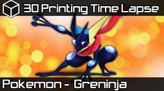 3D Printing Time Lapse | Greninja Pokemon Sun and Moon | AW3D HDX 3D Pri...