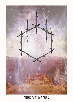 Nine of Wands - Starchild Tarot Tarot Card Decks, Tarot Cards, Feb 19 Zodiac, Nine Of Wands, Oracle Tarot, Oracle Deck, Spirit Magic, Online Tarot, Tarot Card Meanings