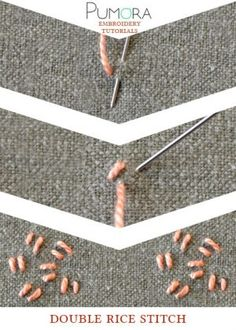 double rice stitch tutorial