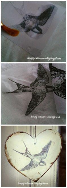Decoupage, transfer y otras técnicas. Restauración de muebles. Tutoriales DIY y craft ideas.: Transferencia de imágenes a servilletas para d...