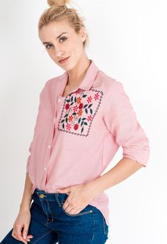 Asymetrická červená pruhovaná košeľa s trojštvrťovým rukávom - ROUZIT.SK Blouse, Long Sleeve, Sleeves, Tops, Women, Fashion, Moda, Long Dress Patterns, Fashion Styles