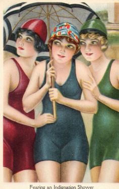 Stunning Art Deco Bathing Belles 1920s PC | eBay
