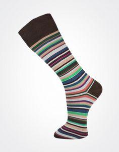 Effio X Effio Bloom of Life - Glorious no.718 #Men #Fashion #Socks #Stripes #Brown