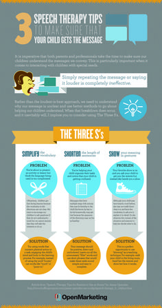 3-Speech-Therapy-Tips-Infographic. Repinned by SOS Inc. Resources pinterest.com/sostherapy/.