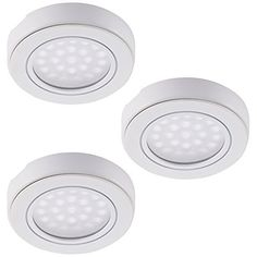 3 pack led battery operated puck light with remote control rite set of 3 led battery operated led under cabinet lighting kit 15w daylight led tap lights wireless remote control led puck lights wmagnetic for aloadofball Choice Image