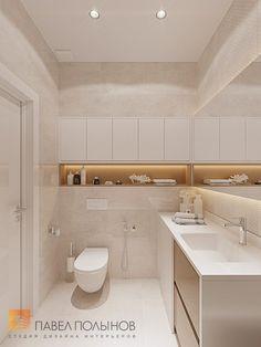 Фото: Интерьер ванной комнаты - Интерьер однокомнатной квартиры в современном стиле