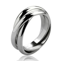 Style Sanctuary  - Stainless Steel Russian Wedding Ring, £6.99…