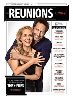 Xfiles reunion shot in Entertainment weekly. They look fantastic!!