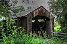 Locust Creek Covered Bridge built in 1888 near Hillsboro, West Virginia by Val Baldwin Carnell