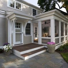 skinny screened porch on side of old farmhouse connecting to screened gazebo - Google Search