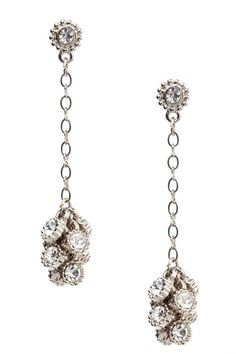 Boutique by 1928  Crystal Cluster Dangle Earrings