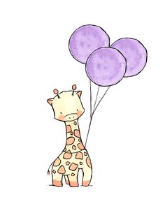 Miss Penny by ohhellodear - giraffe with balloons