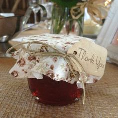 Country wedding Favour - homemade jam