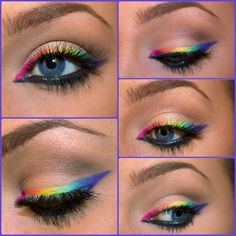 Rainbow eyeliner done by Brittany! Follow on Instagram: makeup_by_brit