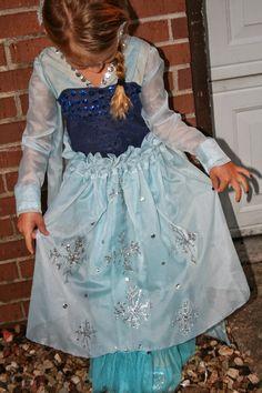 School at Home Momma: DIY Elsa costume