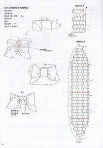 "Photo from album ""Asahi Original Crochet Lace on Yandex. Crochet Bows, Crochet Headband Pattern, Crochet Girls, Crochet Flowers, Crochet Hair Clips, Crochet Diagram, Crochet Chart, Crochet Motif, Crochet Designs"