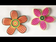 How To Make Beautiful Quilling Flower Using Combing Technique | DIY Paper Quilling Tutorial - YouTube