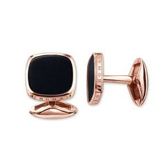 The THOMAS SABO rose gold cufflinks are perfect for the stylish man with class. The cufflinks with black onyx add minimal elegance and sophistication to looks.