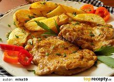 Marinované přírodní kuřecí řízky z trouby recept - TopRecepty.cz Tandoori Chicken, Curry, Food And Drink, Soup, Cooking Recipes, Yummy Food, Treats, Baking, Ethnic Recipes