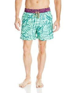 Maaji Mens Minty Windy Reins 5Inch Swim Trunk Mint XLarge <3 Find out more by clicking the VISIT button