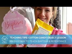 Baptism Talk Object Lesson: Cotton Candy Set for Girls – MeckMom
