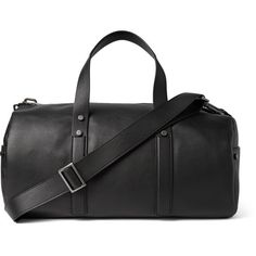 Calvin Klein Collection Grained-Leather Duffel Bag (7.588.295 COP) ❤ liked on Polyvore featuring mens, men's bags and black