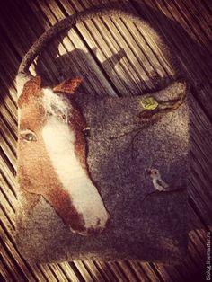 """Сумки и аксессуары ручной работы. Ярмарка Мастеров - ручная работа. Купить Сумка с лошадью """"от сердца к сердцу"""" авторская эко сумка из войлока. Handmade. Felt, Purses, Unique, Bags, Fashion, Handbags, Handbags, Moda, Felting"""