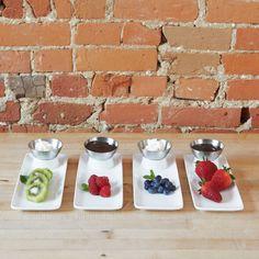 Rising Appetizer Plates - Set of 4 - Unique Modern Furniture - Dot & Bo