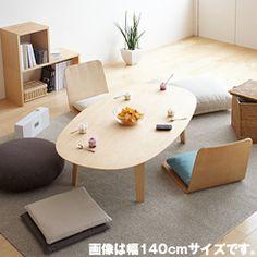 座テーブル・積層合板/タモ材・幅140cm 幅140×奥行79×高さ35cm 31,500円