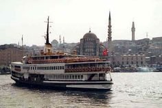 Istanbul transportations boat ferry boat city map
