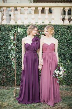 Jenny Yoo 2016 Mismatched Purple Bridesmaid Dresses / http://www.deerpearlflowers.com/jenny-yoo-2016-bridesmaid-dresses/2/